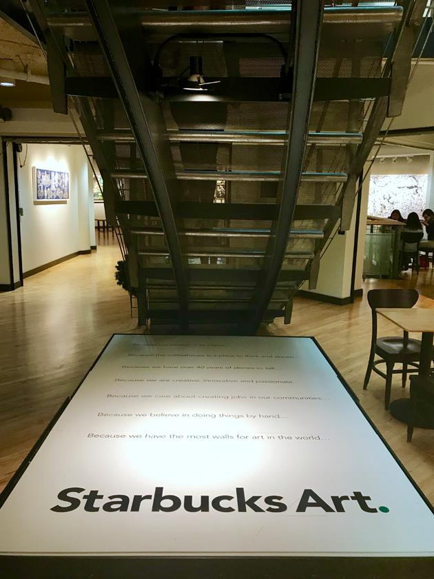 Starbucks Art Plaque