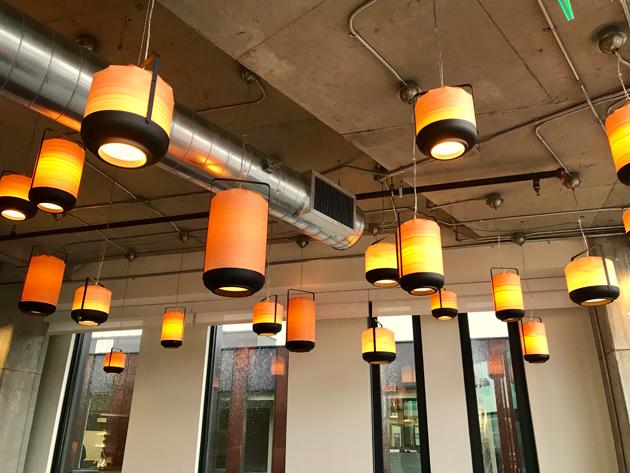 Tableau Light fixtures inside the Break room